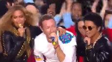 Coldplay Bruno Mars & Beyoncé โชว์จัดเต็มใน Super Bowl 50