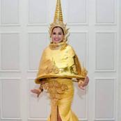 จริงหรือตัดต่อ! ชุดประจำชาติ Mrs.Universe โฉมใหม่ไร้เจดีย์ทอง แต่...(ขำๆ)